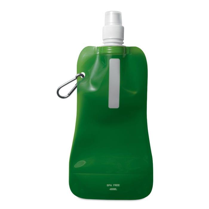 green foldable water bottle