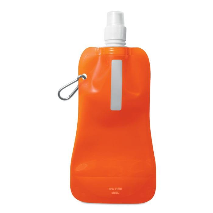 orange foldable water bottle