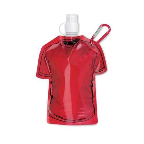 red T-shirt Foldable water bottle in