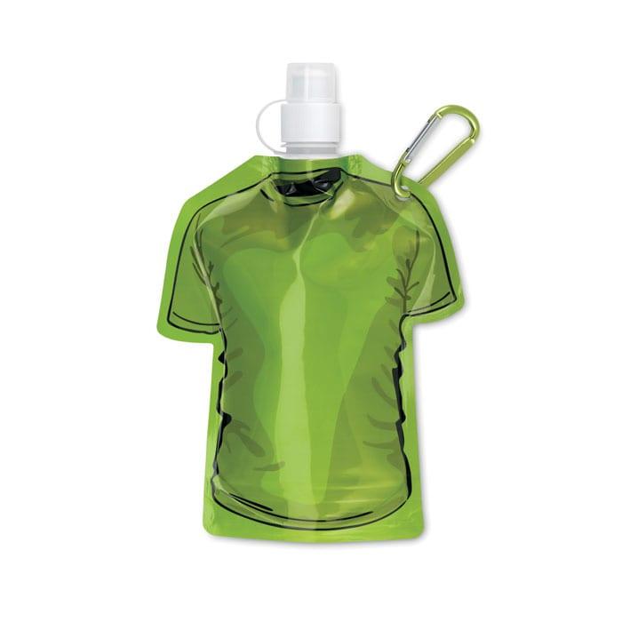 green T-shirt Foldable water bottle