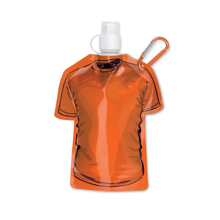 orange T-shirt Foldable water bottle in