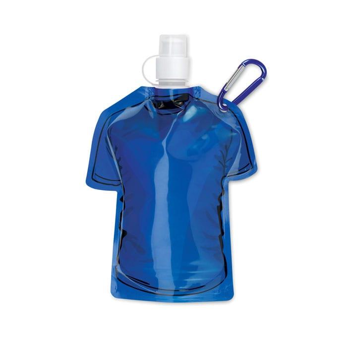 blue T-shirt Foldable water bottle