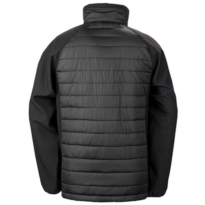 Black padded softshell jacket