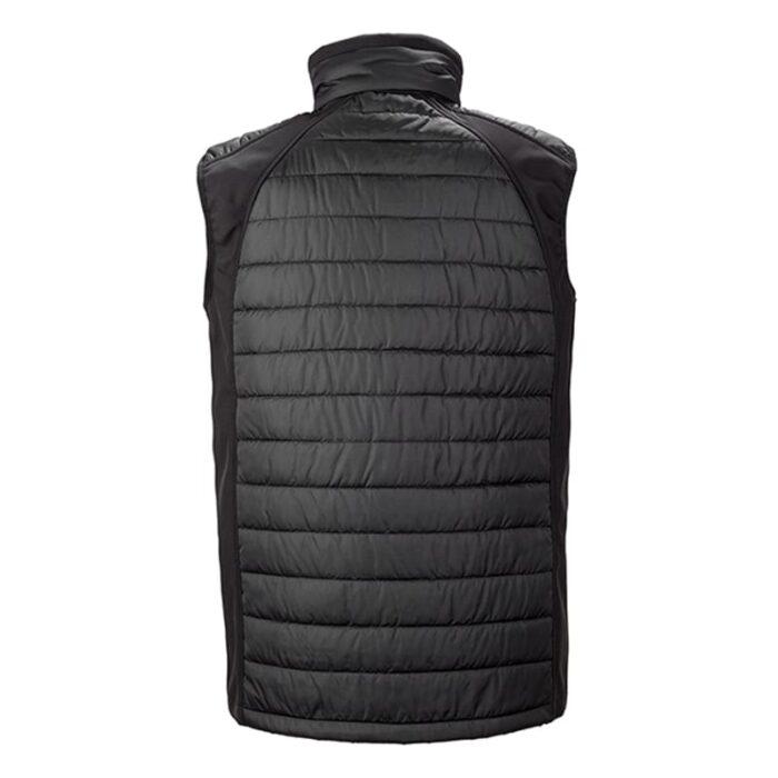 Black padded softshell gilet