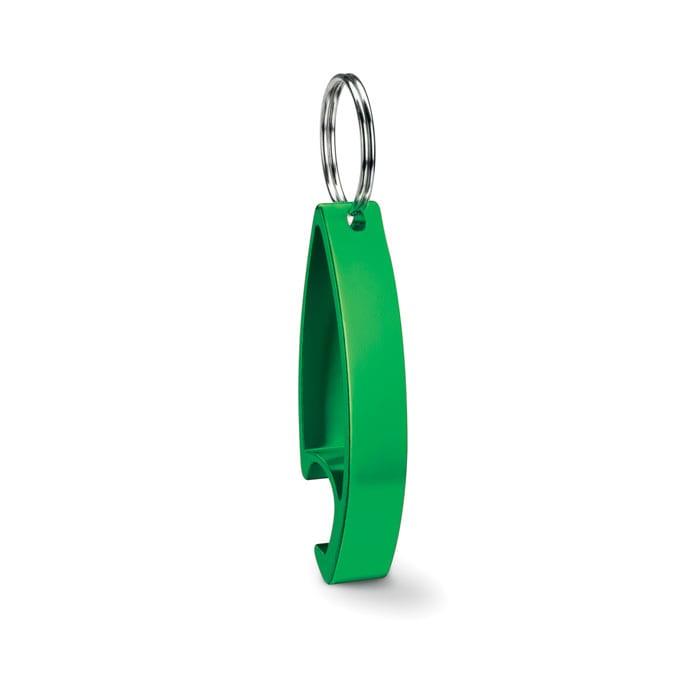 Aluminium bottle opener in shiny finish
