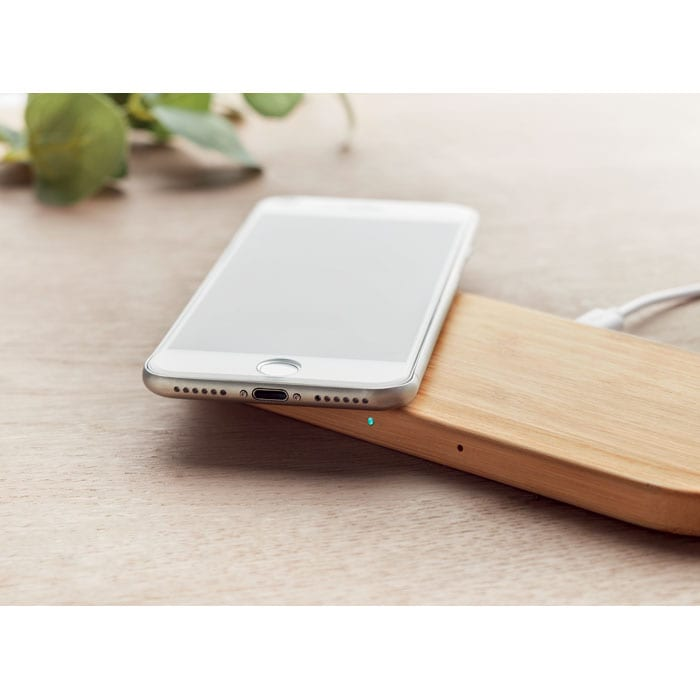 Double coil wireless charge in bamboo