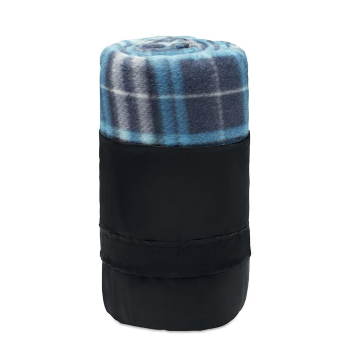 RPET Fleece blanket with squared pattern