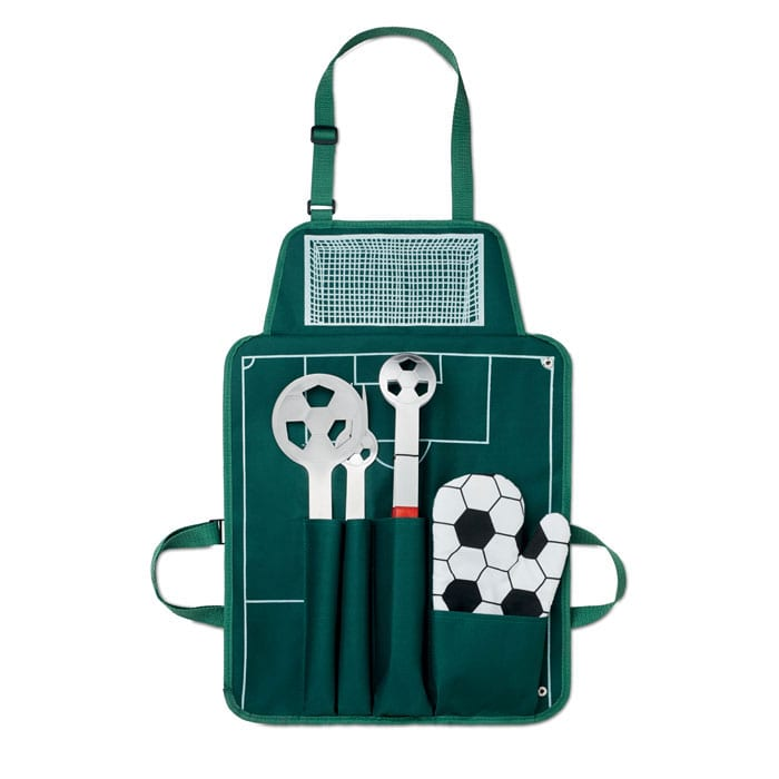 Football barbecue set with apron