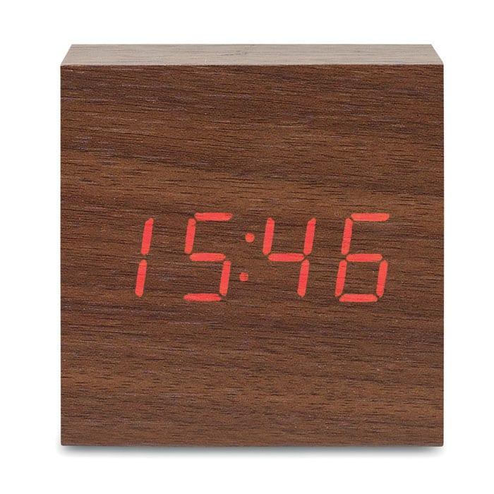 LED time display alarm clock and temperature