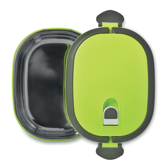 Lunch box with air tight lid and metal inside