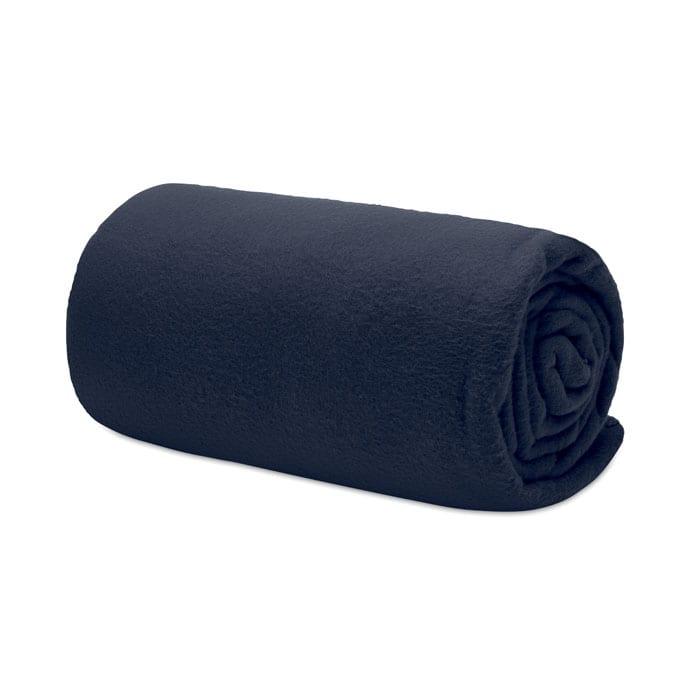 RPET Fleece blanket in travel pouch