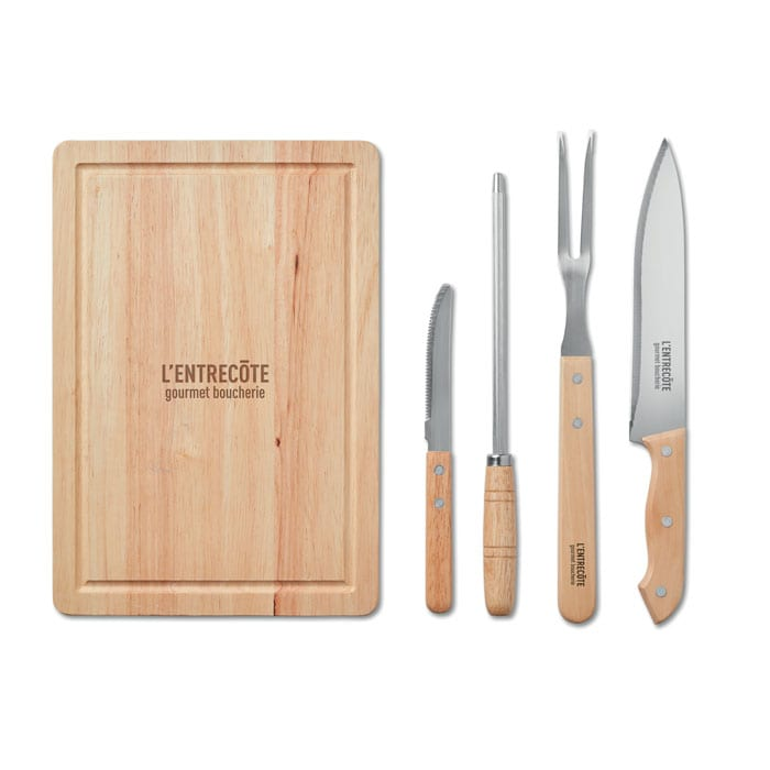 Set barbecue accessories with pouch