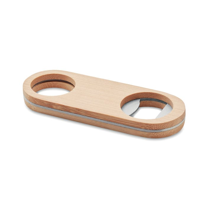 Stainless steel and bamboo opener bottle