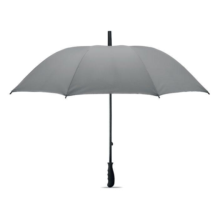 Manual wind-proof reflective umbrella
